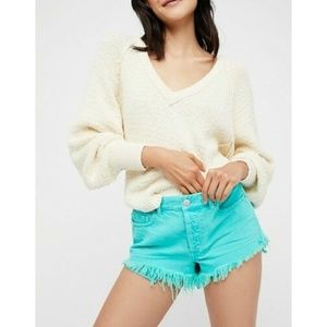 New Free People WTF Soft & Relaxed Cut Off Shorts